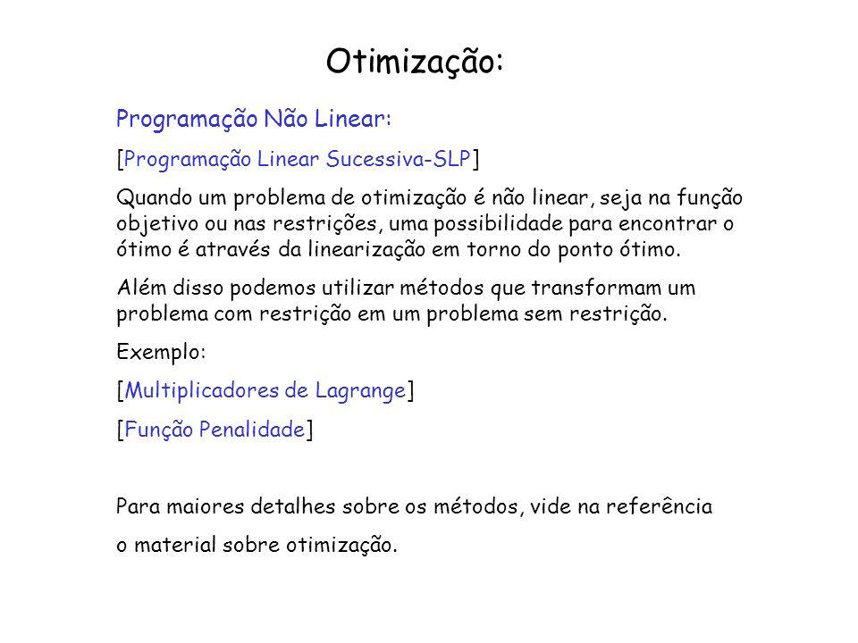 Otimização: Programação Não Linear: [Programação Linear Sucessiva-SLP]